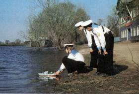 """Практика 1968 года. Поход на флагмане учебной флотилии """"Москва"""" в ГДР."""